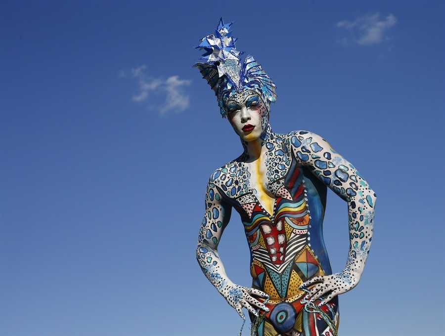The World Body Painting Festival in Poertschach, Austria